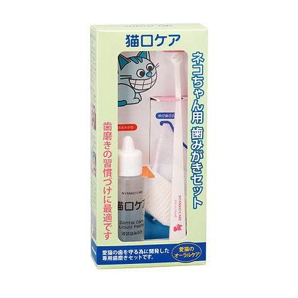 Mind Up 貓貓口腔清潔套裝  (液體牙膏30ml+手指套+迷你刷頭牙刷) #M18