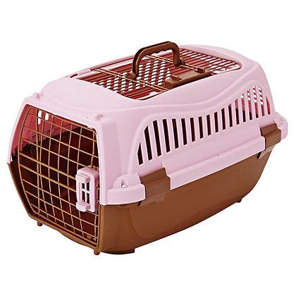 Petio寵物雙門手提籠 粉色M #F58 (W22024)