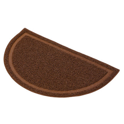 Petio半圓形貓砂墊(棕色)