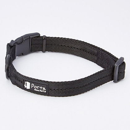 Porta犬用柔軟舒適頸帶 黑色(小)#J68 (W57603)