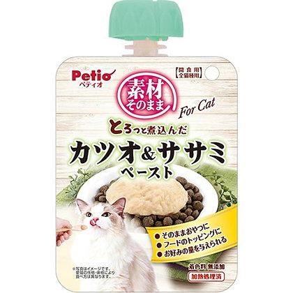Petio貓小食原汁原味 燉煮鰹魚&雞胸肉醬 90g #B78 (W13420)