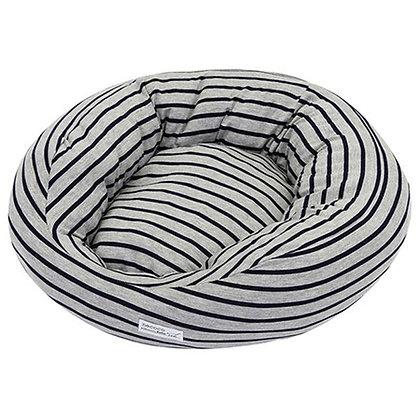 necoco 貓用條紋軟包床(灰色)#F122(W25874)