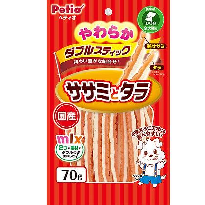 Petio狗小食柔軟易消化.鱈魚&雞胸肉雙色條 70g #A120(W10915)