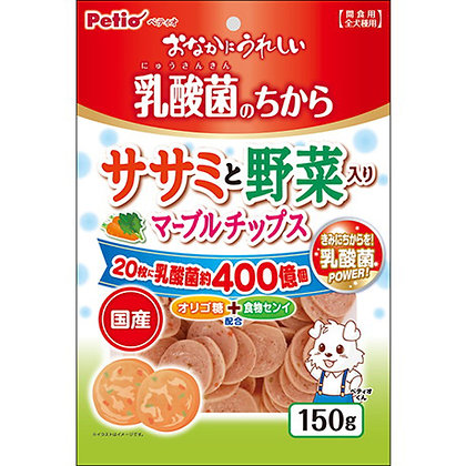 Petio狗小食 乳酸菌蔬菜低脂雞胸肉圓片 150g #A181(W13626)