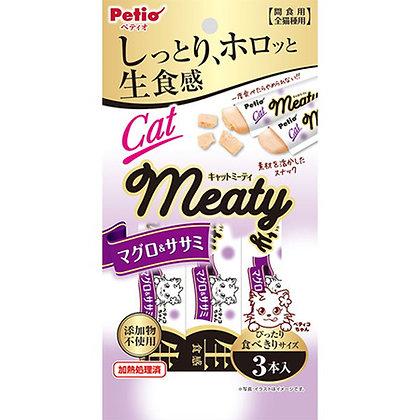 Petio貓小食 無添加.生食感 雞胸肉&吞拿魚肉醬 3支裝 #B96(W13576)