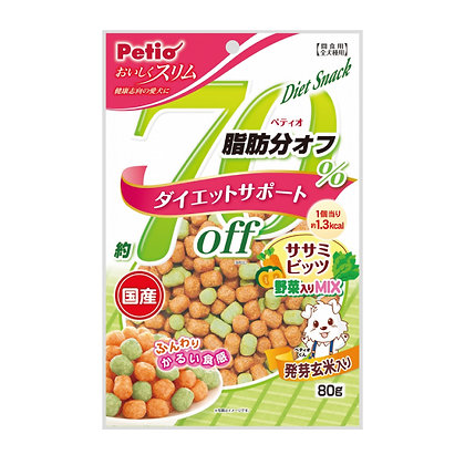 Petio狗小食70%低脂雞胸肉及蔬菜粒80g #A150(W11615)