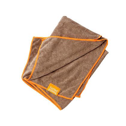 微纖維速乾吸水毛巾(棕色 + 橙色邊) K15