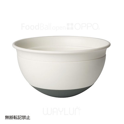 OPPO #P37犬用闊口球形搖搖食碗 (白+深灰)