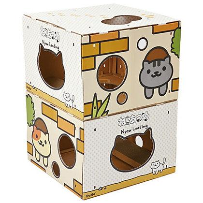 Petio貓咪收集系列. 組合紙板貓塔(可愛貓圖案)#F138(W25284)