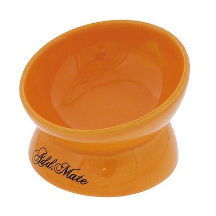 Petio 貓犬斜口陶瓷高腳碗 S (橙色) #F111 (A25634)