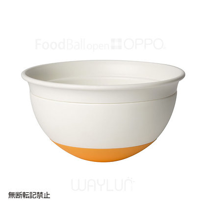OPPO #P38犬用闊口球形搖搖食碗 (白+橙色)