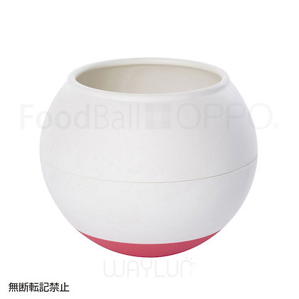OPPO #P39犬用球形搖搖食碗 (白+鮮紅色)