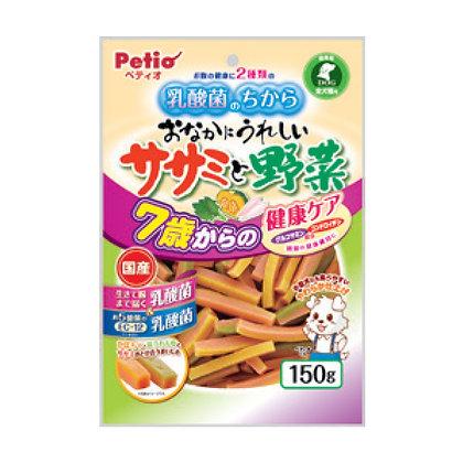 Petio高齡狗小食乳酸菌.雞胸肉及蔬菜雙色條150g