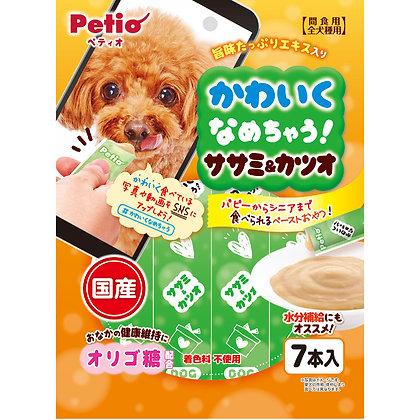 Petio狗小食 低脂雞胸肉&鰹魚醬  7支裝 #A135(W13473)