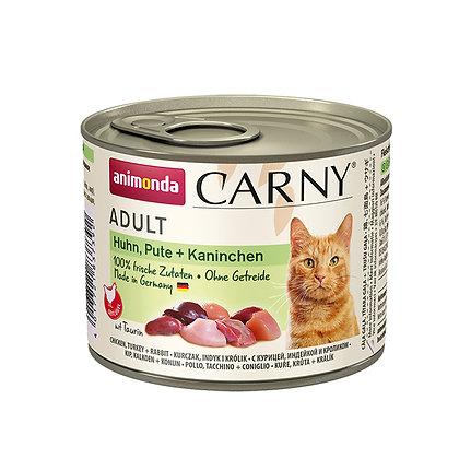 Animonda Carny 成貓 雞 + 火雞 + 兔 200g #N48