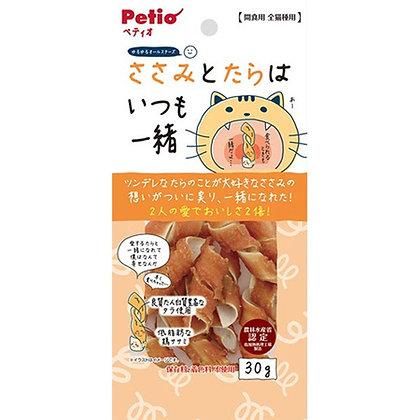 Petio貓小食雞胸肉和鱈魚卷 30g #B68(W13439)
