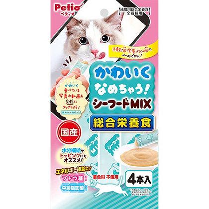 Petio貓小食 綜合營養.混合海鮮醬 4支裝 #B97(W13594)