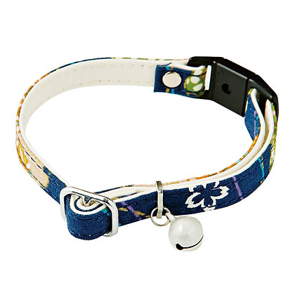 Add Mate和風貓頸帶.櫻花(藍色) #J25 (A55025)