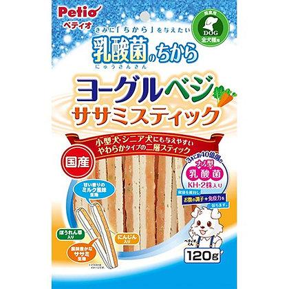 Petio狗小食乳酸菌 乳酪蔬菜雞胸肉條 120g #A107 (W13397)