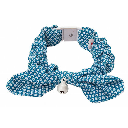 Petio田園風蝴蝶結貓頸帶.鹿紋(藍色) #J44 (W55267)