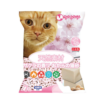 My Baby Pet Life 日本製櫻花香味豆腐貓砂 7L
