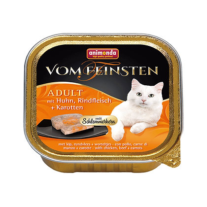 Animonda Vom Feinsten 成貓配方 雞肉配牛肉+胡蘿蔔 100g