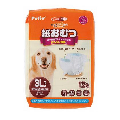 zuttone高齡犬護理專用紙尿片 3L 12片 #D61(W24076)