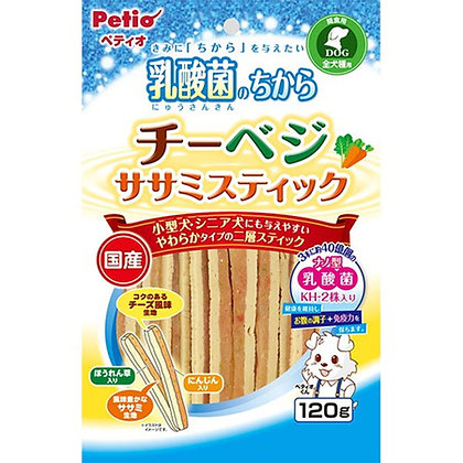 Petio狗小食乳酸菌 芝士蔬菜雞胸肉條 120g #A108(W13398)