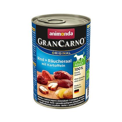 Animonda GranCarno 成犬 牛肉 + 煙燻鰻魚 + 薯仔 400g #N65