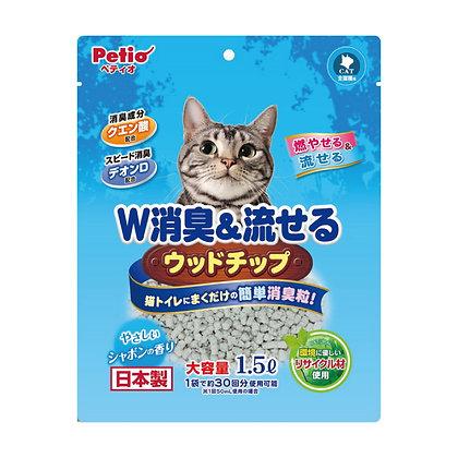 Petio可沖式貓砂除臭粒(1.5升)
