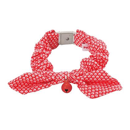 Petio田園風蝴蝶結貓頸帶.鹿紋(紅色) #J43 (W55266)