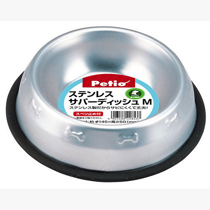 Petio防滑不鏽鋼狗碗(中)