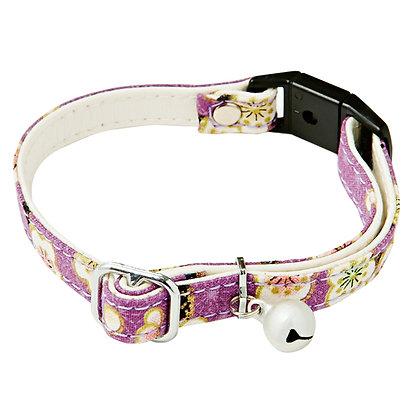 Add Mate和風貓頸帶.梅花(紫色) #J24 (A55024)