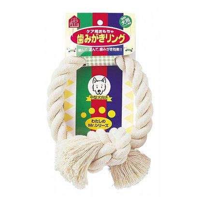 Petio中型犬麻繩潔齒環狗玩具