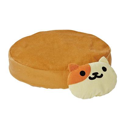 Petio貓貓後院系列.貓枕頭軟墊(米色)