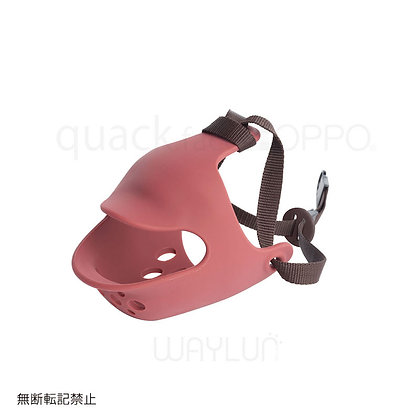 OPPO #P21犬用面罩式鴨咀口罩 M (紅色)