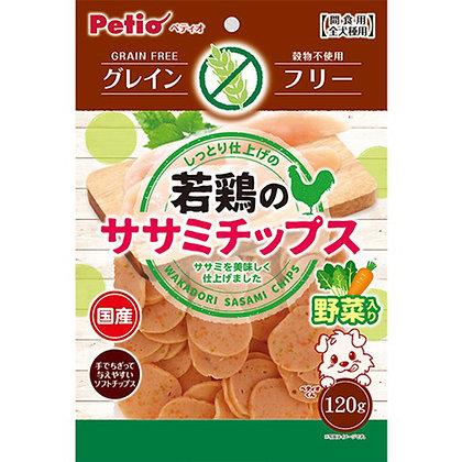 Petio狗小食 無穀物蔬菜柔嫩雞胸肉片 120g #A186(W13645)