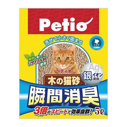 Petio瞬間除臭木貓砂(5升)