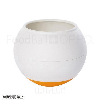 OPPO #P40犬用球形搖搖食碗 (白+橙色)