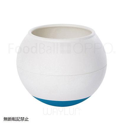 OPPO #P41犬用球形搖搖食碗 (白+藍綠色)