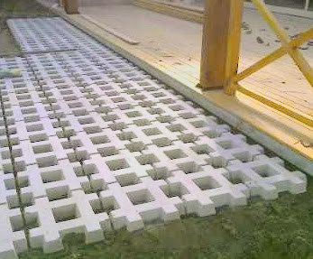 green block bloque grilla garden block