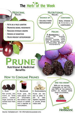 Prune Nutritional & Medicinal Benefits