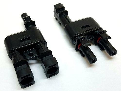 Conectores split MC4 2 a 1