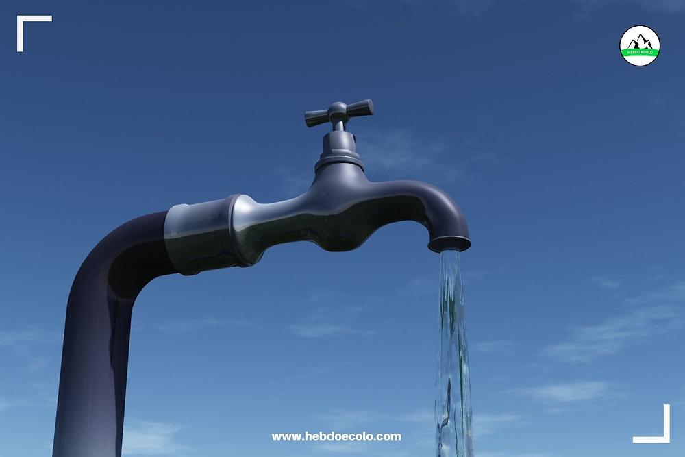 Pollution de l'eau, robinet, potable HEBDO ECOLO