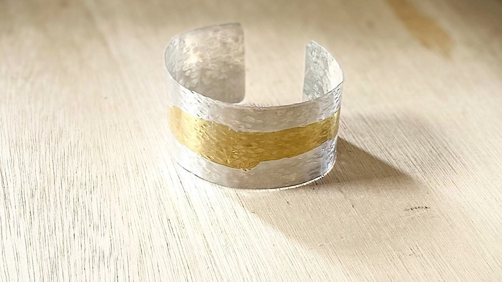 Keum - Boo Silver and gold cuff