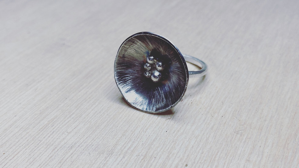 Silver Oyster Ring