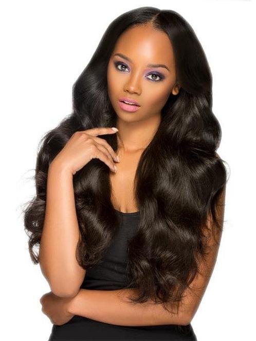 Virgin Human Hair Lace Frontal Eurasian Wavy Closure 4x13