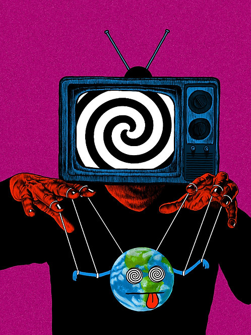 TURN OFF YOUR TELEVISION A2 Print