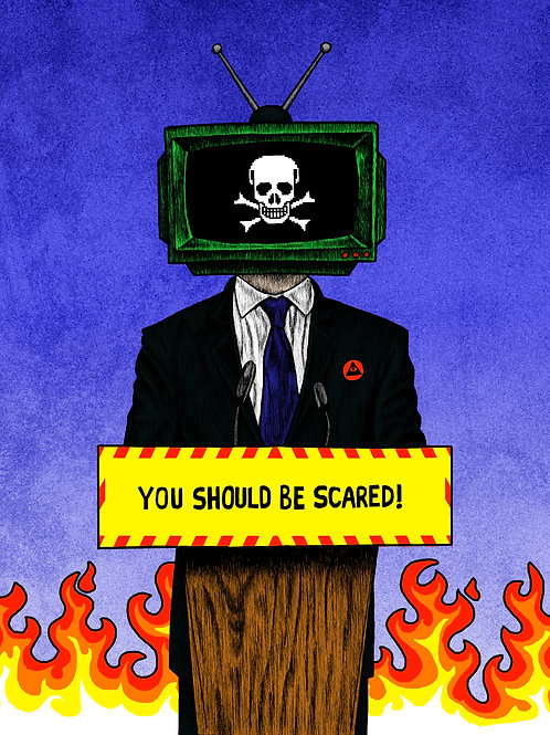 TURN OFF YOUR TELEVISION 2 8x10 Print