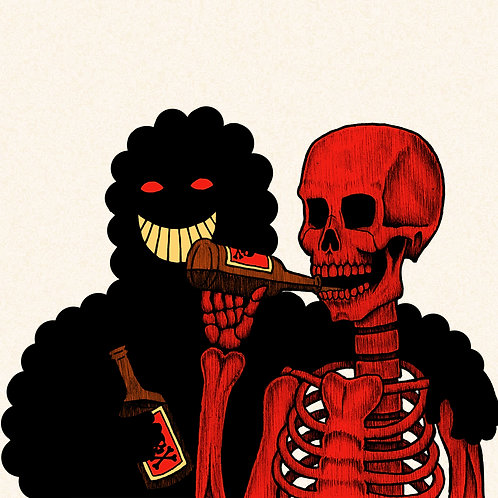 DRINKING BUDDIES A2 Print